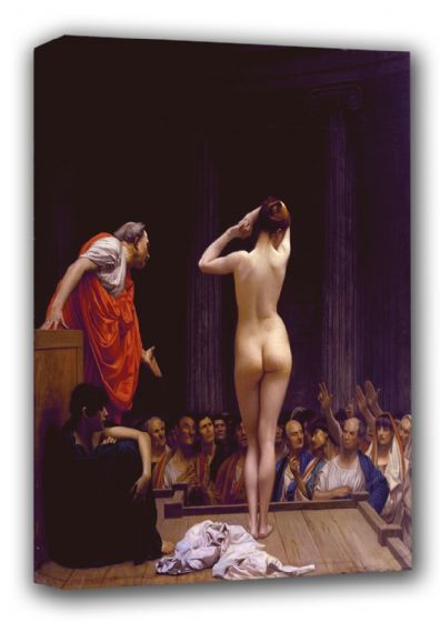 Gerome, Jean Leon: A Roman Slave Market. Fine Art Canvas. Sizes: A3/A2/A1 (00911)